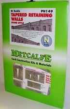 Metcalfe PN149 Tapered Retaining Walls, Stone Style (N) PN149  Railway Model