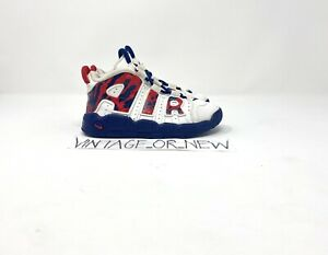 Nike Air More Uptempo Red Navy Camo Scottie Pippen CZ7887-100 TD Toddler sz 9C