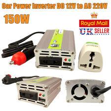 150W USB Car Power Inverter DC 12V to AC 220V Pure Sine Wave Converter Charger