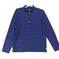 FILA Sport 1/4 Zip Pullover Shirt Mens Size XL Blue Purple Long Sleeve Athletic