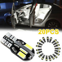 20Pcs Car Vehicle Interior LED Lights Lamp Bulb 5730 168 194 W5W Super Bright