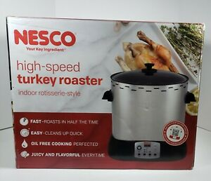 Nesco High-Speed Turkey Roaster Oil-Free Indoor Rotisserie-Style Cooker HSR-01