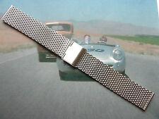 MILANESE Rete di acciaio bracciale/cinturino/CINTURINO PER Omega Chronostop &