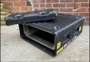 3U Rack Mount Flight Case Metal Construction Heavy Duty