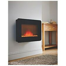 WALL HUNG ELECTRIC 1.9KW ELECTRIC FIRE REMOTE LED FLAME EFFECT LDBL2000A-DD4R