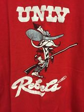 Vintage 80s UNLV Runnin Rebels T Shirt Logo 7 M Red Rebels NCAA LAS VEGAS Nevada