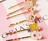1pc Cute Anime Cardcaptor Sakura Clow Card Hairpin Magic Wand Cosplay Bobby Pin