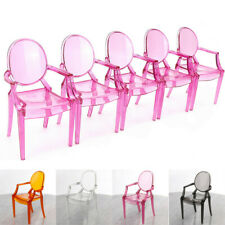 5Pcs 1:6 Scale Plastic Armchair Dollhouse Miniature Furniture Toy  B