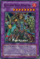 Gladiator Beast Heraklinos, EN, Super Rare, Yugioh!