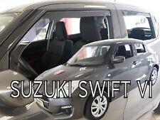 SET 4 DEFLETTORI ARIA  ANTITURBO per SUZUKI SWIFT  5 PORTE  2017-ad oggi