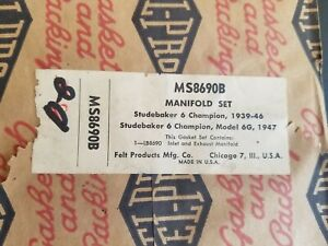 Fel-Pro MS 8690 B Manifold Set - Made In the USA - Free Shipping - Studebaker 6