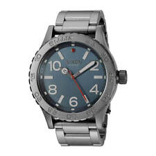 Nixon A9162340 Men's 46 Dark Blue Dial Gunmetal Bracelet Watch
