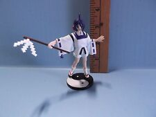 """SNK Akari Anime 3.75""""in Girl in White Shorts Blue Hair and Sandals Ying/Yang"""
