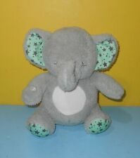 "9"" Soft Dreams Elephant Musical Melody & Glow Tummy Soother Plush Mint Star Ears"