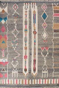 Geometric Tribal Moroccan Berber Oriental Area Rug Plush Wool Hand-knotted 8x11