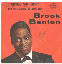 BROOK BENTON--PICTURE SLEEVE + 45---(FRANKIE & JOHNNY)---PS---PIC---SLV