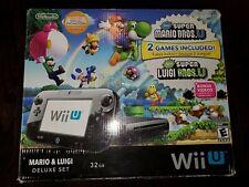 Nintendo Wii U Mario & Luigi 32GB Deluxe Set Box Only