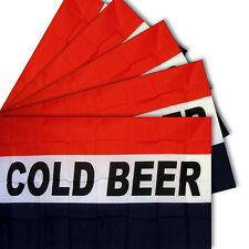 3x5 3'x5' Wholesale Set 5 Pack of Advertising Cold Beer Business 5 Flags Flag