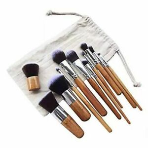 Lucky Beauty Bamboo Brush Set of 10 pcs in Cotton bag