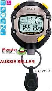 AUSSIE SELLER CASIO STOP WATCH HS-70W-1D HS70 2 x 100 LAP 50M 12-MONTH WARANTY