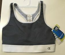 CHAMPION WOMEN'S MED SUPPORT GRAY ATHLETIC SPORTS BRA TOP SIZE XL -WORLD'S BEST-