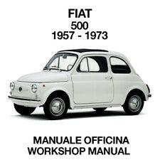 FIAT 500 1957 / 1973. Service Manuale Officina Riparazione Restauro Workshop ENG