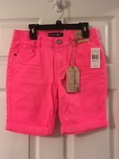 Imperial Star Little Girls Bermuda Hot Pink Shorts Size 14 NWT