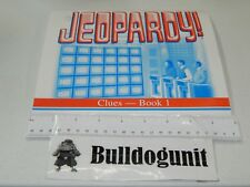 1999 Jeopardy Board Game Replacement Clue Book # 1 Puzzle Games 1-25
