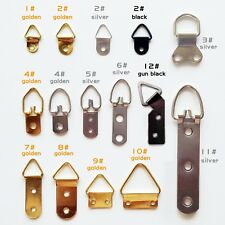 25pcs Metal Triangle D-Ring Picture Photo Oil Painting Mirror Frame Hook Hanger