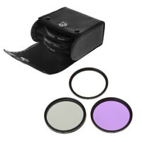 3 in 1 CPL UV FLD Filter Kit 52/55/58mm Camera Lens For Nikon Canon Sony Pentax
