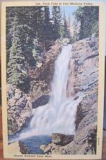 Montana Postcard TRICK FALLS Two Medicine Valley Glacier National Park Keenan