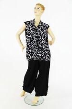 Mehrfarbige ärmellose Damen-Shirts mit Rundhals-Ausschnitt