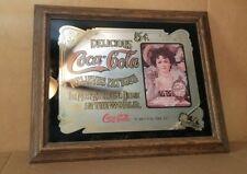 Vintage Delicious Coca-Cola Relieves Fatigue Mirror Bar Sign