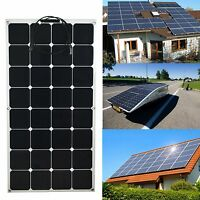 100W Solar Panel Sunpower Semi-Flexible 12 V Battery Charge For Home RV Boat
