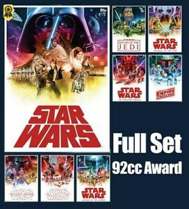 Star Wars Card Trader Red Celebrate the Saga Movie Posters Red Full Set + AWARD