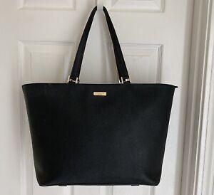 Kate Spade black tote bag Newbury Lane Jules Leather