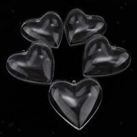 5pcs Clear Plastic Heart Bath Bomb Mould Mold Xmas Bauble Sweets Candy Box