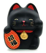 More details for maneki neko feng shui lucky cat – black for luck 6.7cm