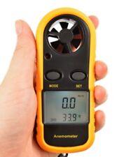 Digital Anemometer Handheld Air Wind Speed Plus Temperature-Yellow