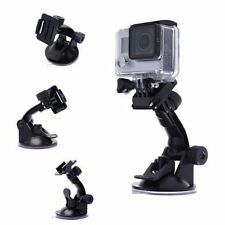 Car SUV Smatree Suction Cup Mount +Stainless Steel Tether Lanyard For GoPro Hero