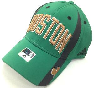 NBA Boston Celtics Adidas Irish Curve Brim Structued Flex Fit Cap Hat NEW!