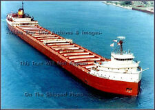 Photo: Aerial: The SS Edmund Fitzgerald On Lake Michigan, Color, 1967