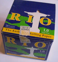 1x BOX RIO 1.0 Rolling Papers (24 Packs) + Free Roller/Extra Papers