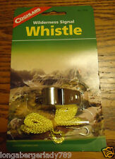COGHLANS WILDERNESS SIGNAL WHISTLE WITH LANYAR EMERGENCY CODE CAMPING SURVIVAL