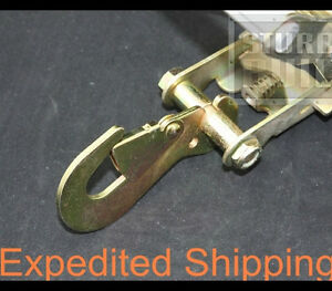 6x Ratchet Snap Hook with Spring Loaded Tow Dolly Hauler Trailer Flatbed Truck