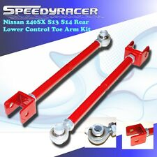 fits Nissan 240sx 1989-1994 S13 Rear Lower Control Toe Arm Kit RED