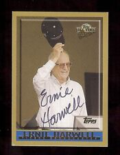 ERNIE HARWELL *Deceased* 2003 Topps TIGERS Announcer SIGNED AUTOGRAPH Card