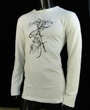 Alpinestars Motocross Sliced Light Gray L/S Mens T shirt Large