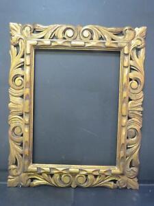 "Carved Antique Florentine Frame Circa 1900 16.25"" x 12.25"" Rebate"