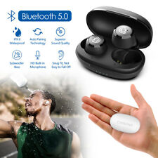 Wireless Earbuds Bluetooth 5.0 Headsets Headphones Bass Stereo IPX8 Waterproof